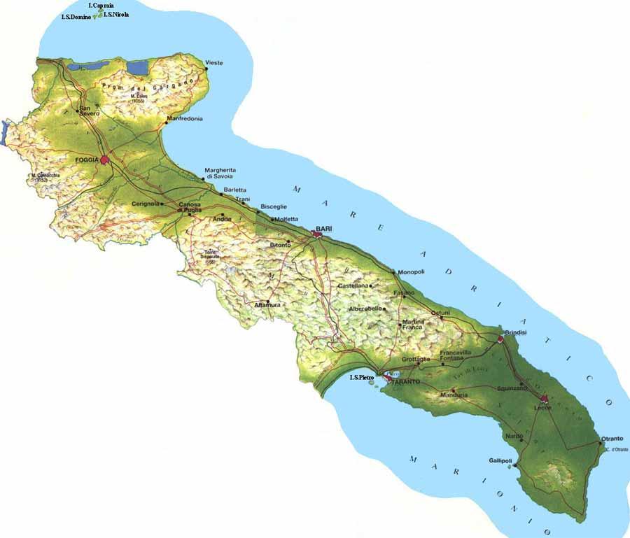 Mappa Cartina Puglia.Italymap Italia Regioni Mappa Regione Puglia Italy Map