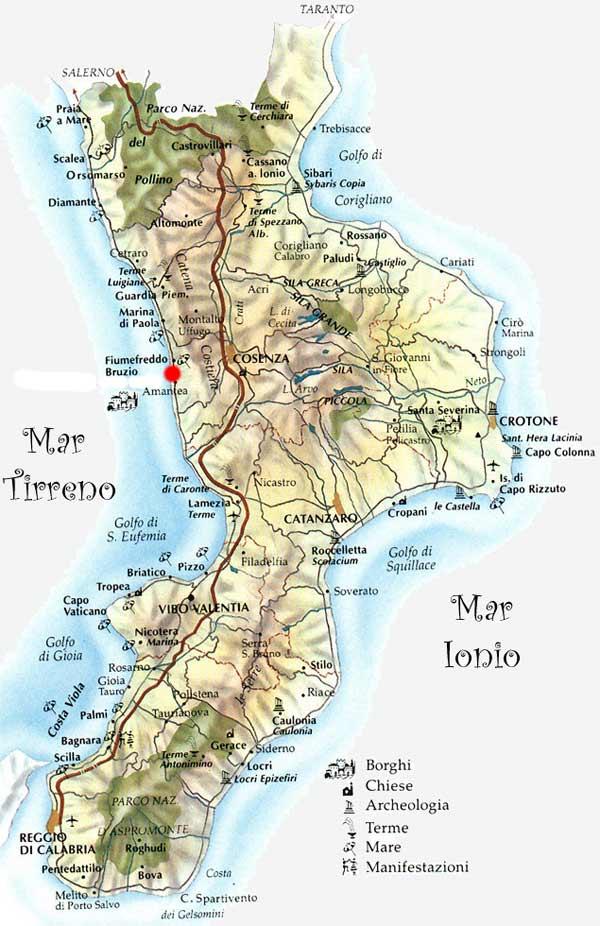 Cartina Calabria Geografica.Italymap Italia Regioni Mappa Regione Calabria Italy Map